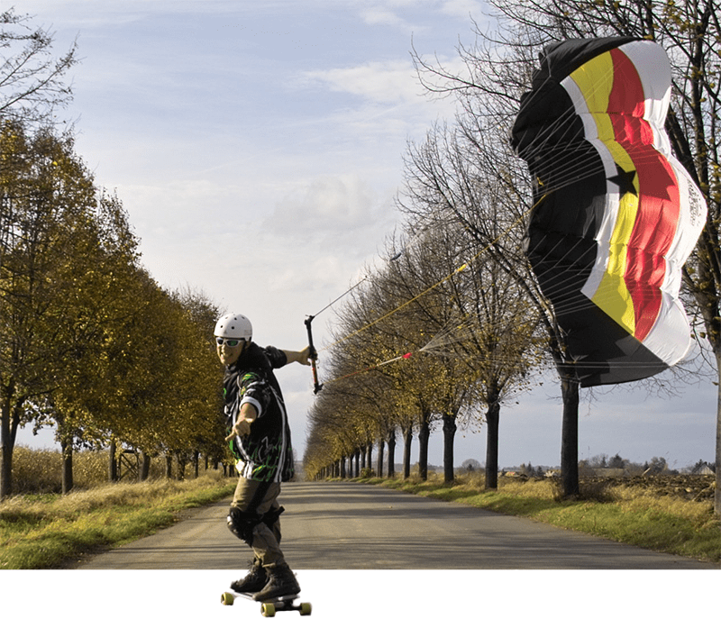 Streetkiter mit Nasa Star 3 in 5,5m² von Born Kite