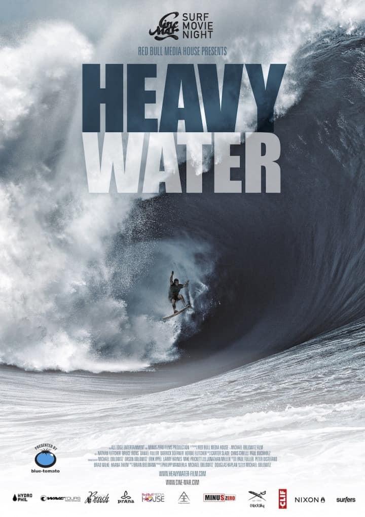 Cine Mar - Surf Movie Night mit dem Film Heavy Water - Filmplakat