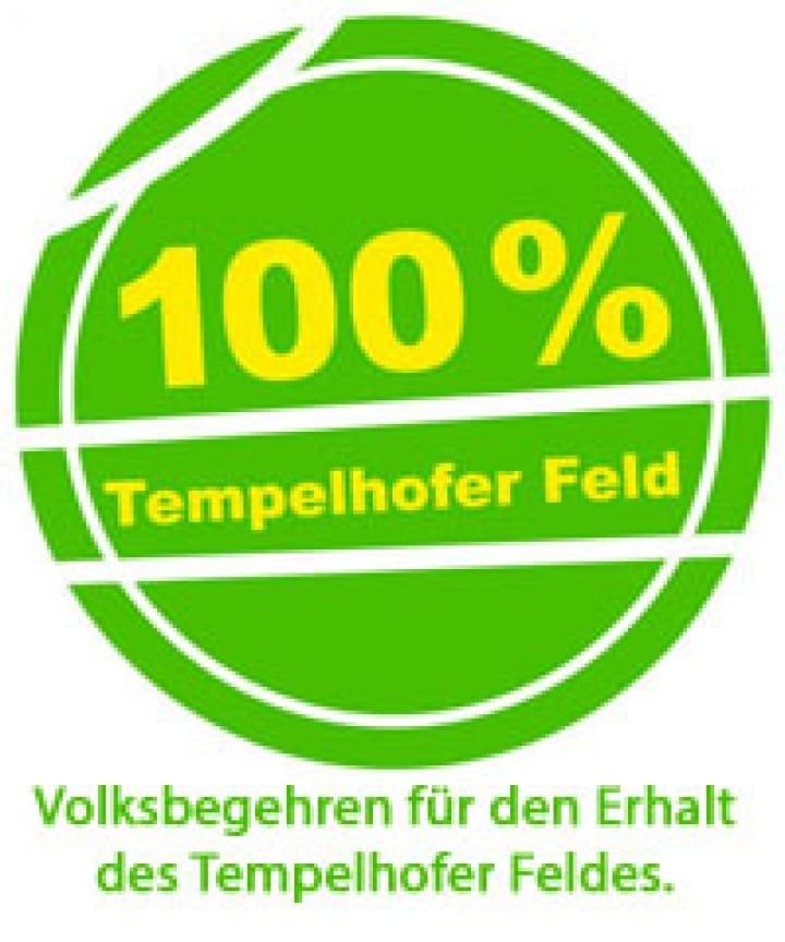 100% Tempelhofer Feld Logo 2014