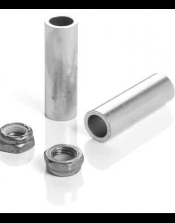 10mm Axle nuts and axle support spacer for skate trucks