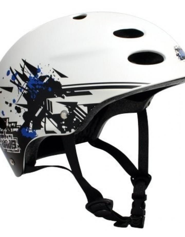 MBS Helmet Grafstract White von der Seite