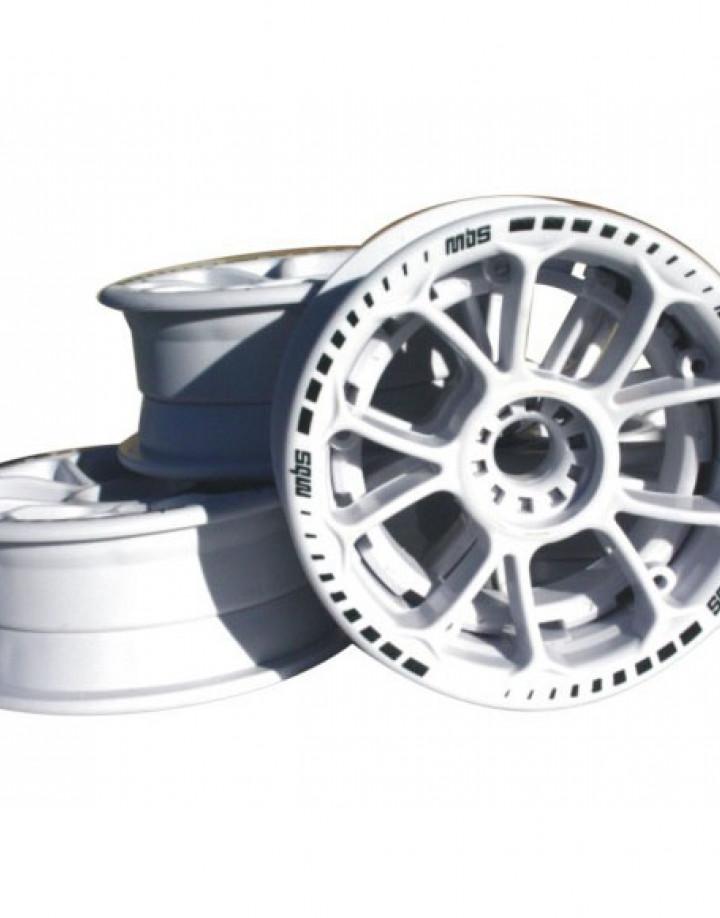 MBS Twistar Hubs Weiß für Mountainboards